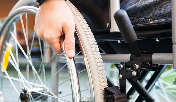 Close of a wheelchair