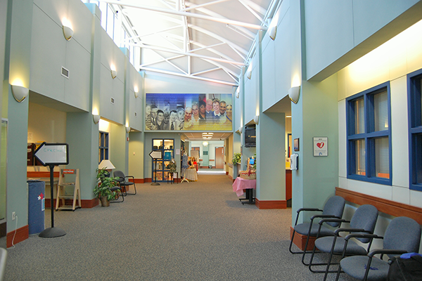 Amherst senior center lobby area