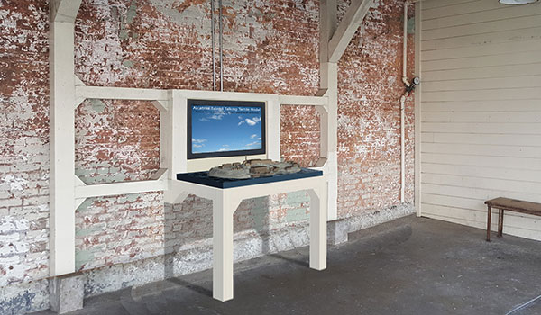Alcatraz touch model rendering
