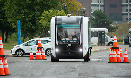 University of buffalo smart bus research featuring the olli