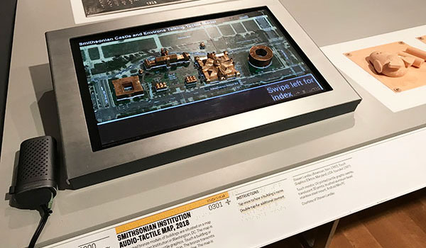 Smithsonian touch model prototype on display at the Cooper Hewitt Museum