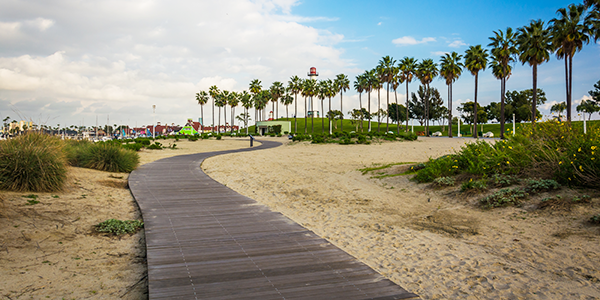 Shoreline-Aquatic-Park,-in-Long-Beach California