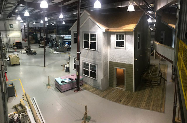 Aerial view of Home Innovation Lab Housing Mockup