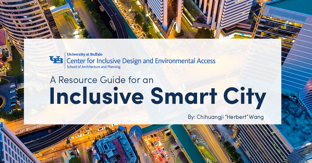 Aerial shot of city scape: Inclusive Smart Cities