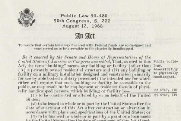 Architectural barriers act 1968