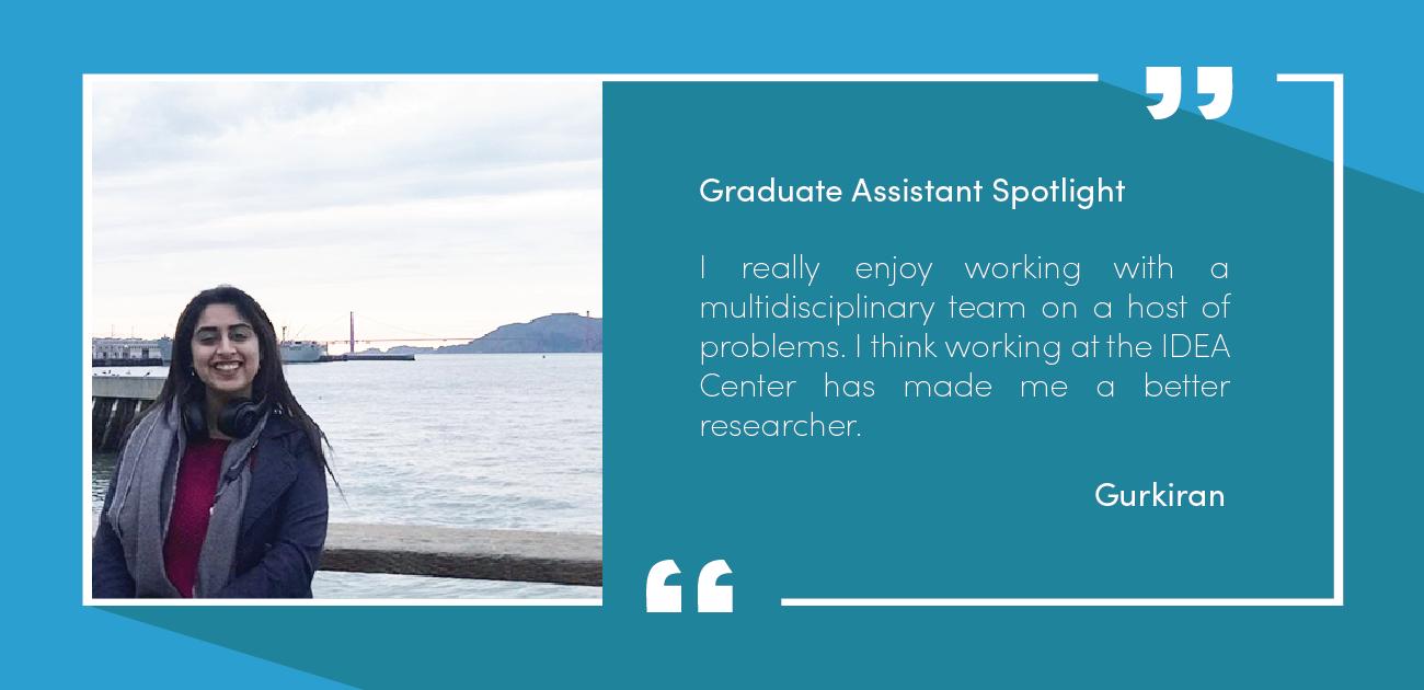 Our graduate assistant Gurkiran