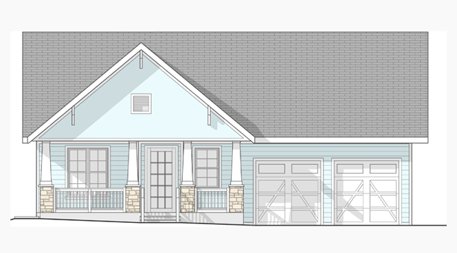 Front Elevation view of LifeHouse