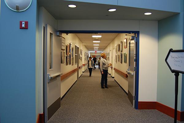 Amherst Senior center doorway