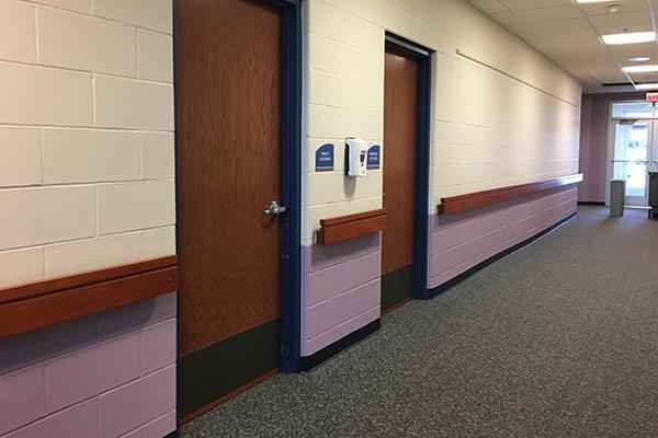 Amherst Senior center hallway