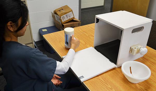 participant testing a prototype stroke rehabilitation system