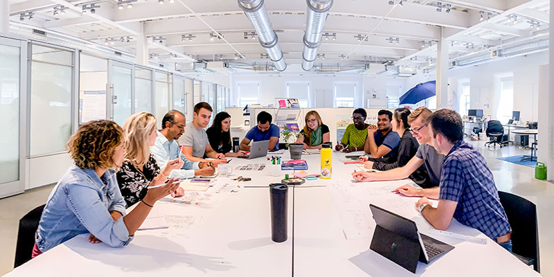 idea staff at the conference table