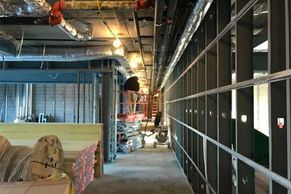 Hampton by Hilton construction image of interior - Uniland Development