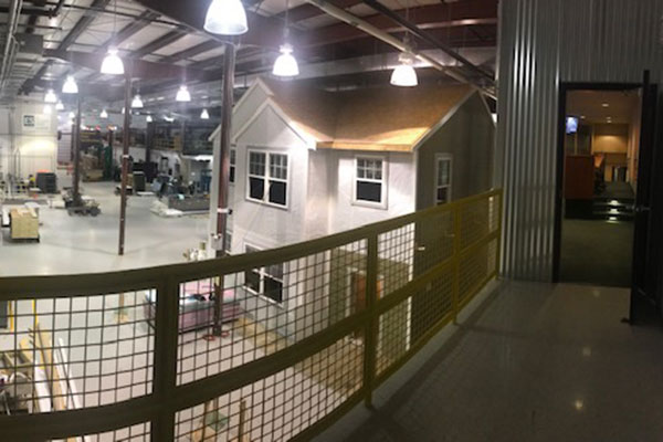 Upperlanding View of Home Innovation Lab Housing Mockup